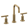 KOHLER Purist Vibrant Brushed Bronze 2-Handle Widespread WaterSense Bathroom Faucet (Drain Included)