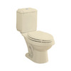 Sterling Rockton Almond 1.6 GPF High Efficiency WaterSense Elongated Dual-Flush 2-Piece Toilet