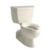 KOHLER Barrington Almond 1.6-GPF (6.06-LPF) 4 Rough-In Elongated Pressure Assist 2-Piece Comfort Height Toilet