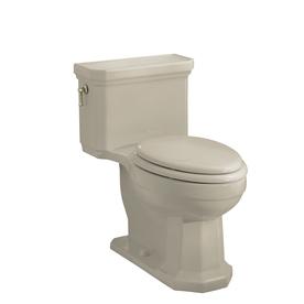 KOHLER Kathryn Sandbar 1.6-GPF/6.06-LPF 12-in Rough-in Elongated 1-Piece Comfort Height Toilet