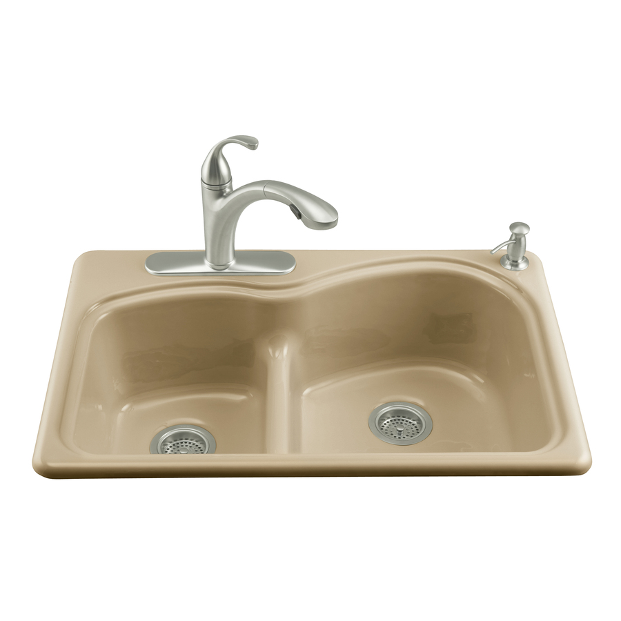 Drop In Sinks For Kitchen : ... Double-Basin Drop-in Enameled Cast Iron Kitchen Sink at Lowes.com