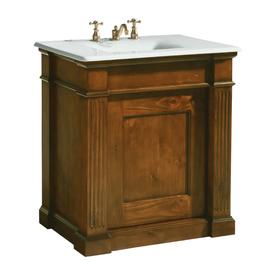 shop kohler thistledown traditional knotty pine bathroom vanity common 30 in x 22 in