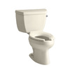KOHLER Wellworth Almond High Efficiency Elongated Toilet