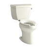 KOHLER Highline Biscuit High Efficiency Elongated Toilet