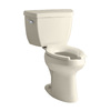 KOHLER Highline Almond High Efficiency Elongated Toilet