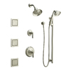 KOHLER Bancroft Vibrant Brushed Nickel 2-Handle Tub and Shower Faucet Trim Kit with Multi-Function Showerhead