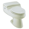 KOHLER San Raphael Biscuit 1.4 GPF High Efficiency WaterSense Elongated Dual-Flush 1-Piece Toilet