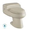 KOHLER San Raphael Sandbar 1.4 GPF High Efficiency WaterSense Elongated Dual-Flush 1-Piece Toilet