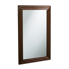 KOHLER 38-in H x 26-in W Escale Engineered Wenge Rectangular Bathroom Mirror