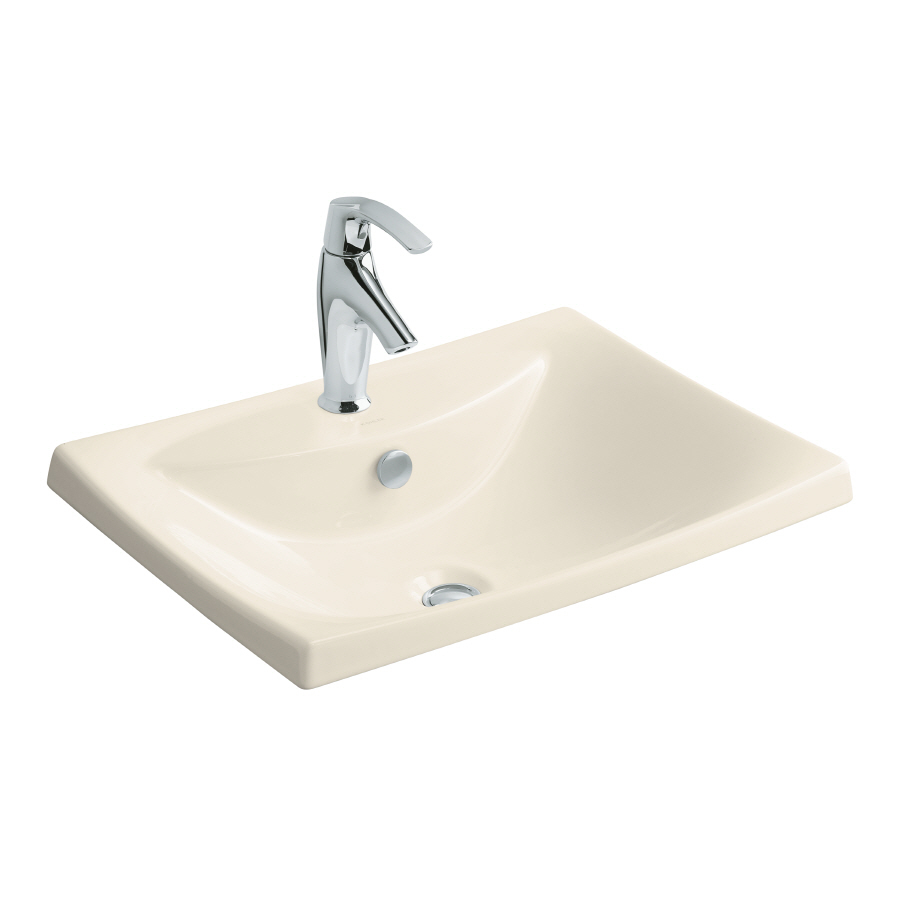 ... Fire Clay Drop-In Rectangular Bathroom Sink with Overflow at Lowes.com