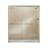 Sterling 59-5/8-in W x 70-3/8-in H Polished Nickel Frameless Sliding Shower Door