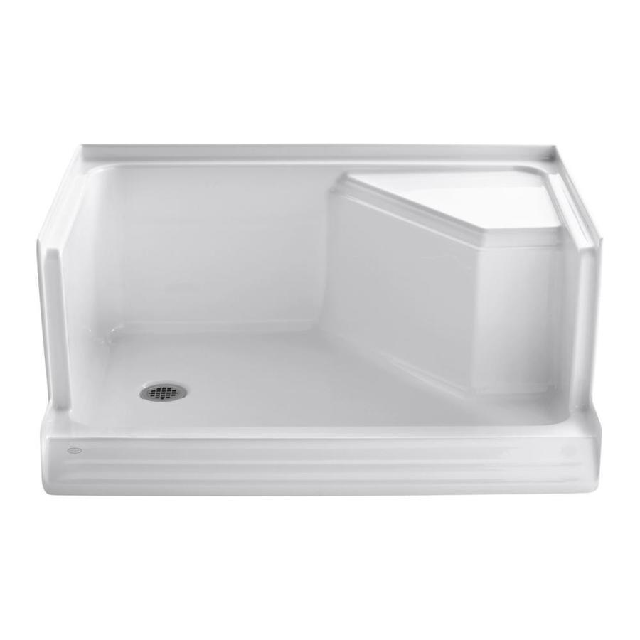 Shop Kohler Memoirs White Acrylic Shower Base Common 36