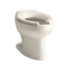 KOHLER Wellworth Standard Height Almond 10-in Rough-In Pressure Assist Elongated Toilet Bowl