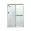 Sterling 59-3/8-in W x 70-in H Polished Nickel Framed Sliding Shower Door