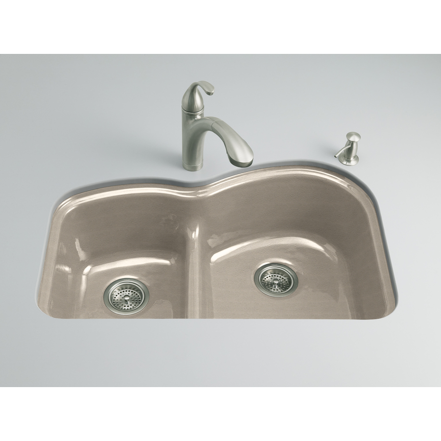 Cast Iron Kitchen Sinks Undermount Shop Kohler Woodfield Basin Undermount Enameled