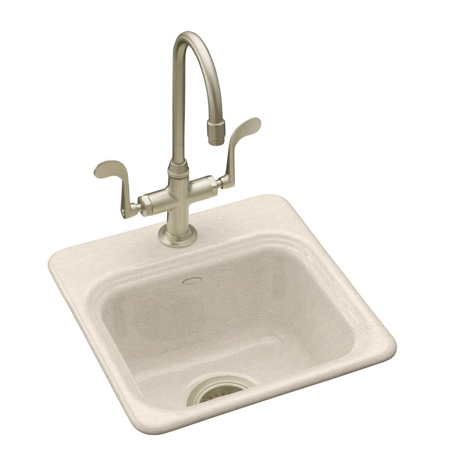 Kohler Bar Sink Faucet : Shop KOHLER Northland Single-Basin Drop-in Enameled Cast Iron Bar Sink ...
