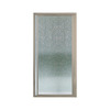 Sterling Vista Pivot II 31.25-in to 36-in Brushed Nickel Pivot Shower Door