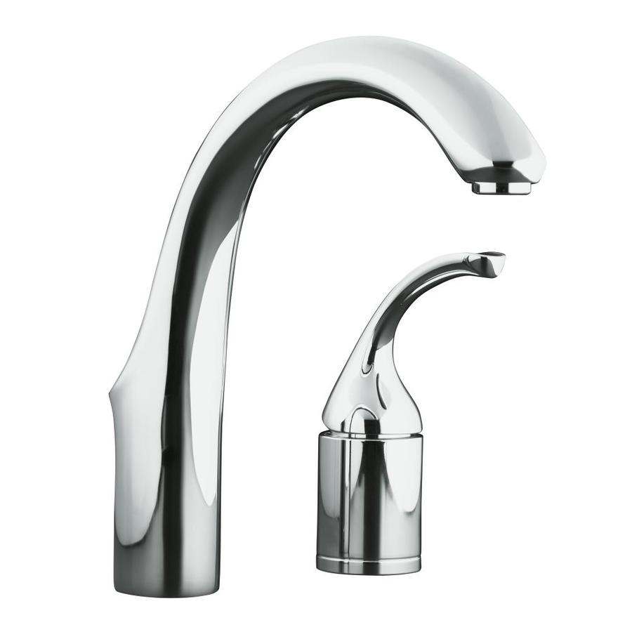 Forte Kohler Faucet : Shop KOHLER Forte Polished Chrome 1-Handle High-Arc Kitchen Faucet at ...