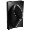 KOHLER 19.125-in W x 31.875-in H Black Wall-Mounted Urinal