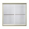 Sterling 59.63-in W x 58.312-in H Frameless Bathtub Door