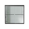 Sterling Finesse 59.625-in W x 55.5-in H Deep Bronze Frameless Bathtub Door