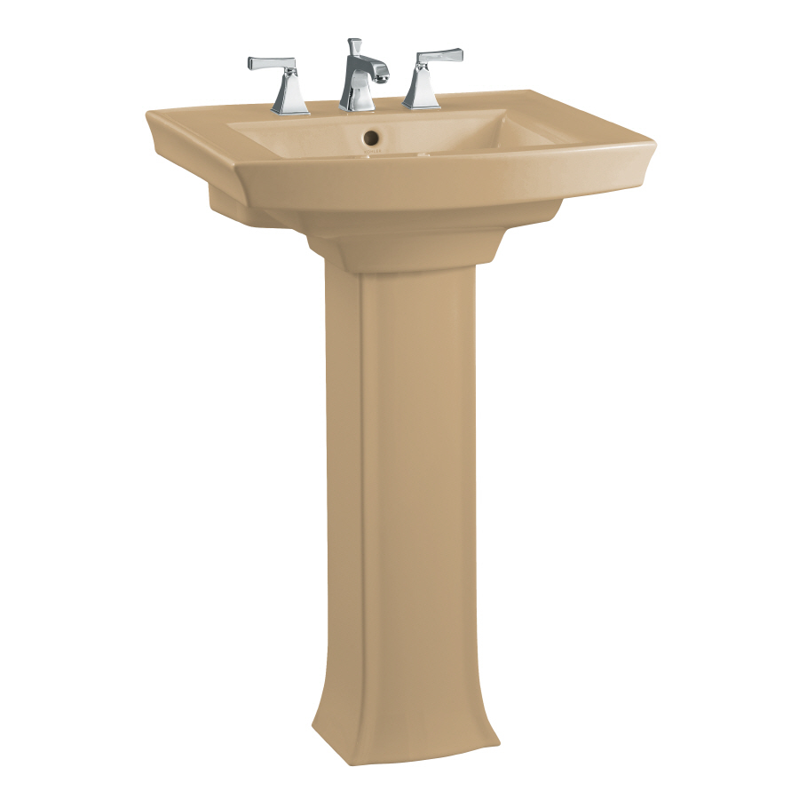 Archer Pedestal Sink : Archer 35-in H Mexican Sand Vitreous China Complete Pedestal Sink ...
