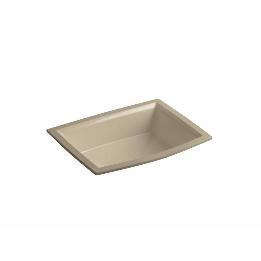 Shop kohler archer mexican sand undermount rectangular for Bathroom undermount sinks
