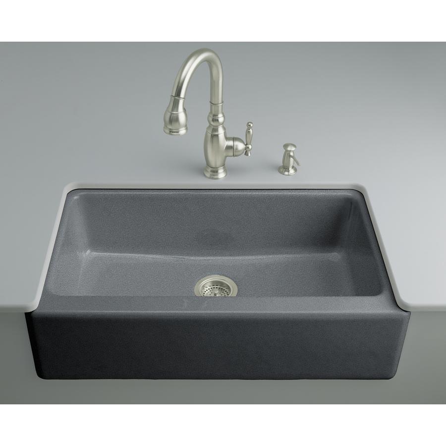 shop kohler cape dory single basin undermount enameled