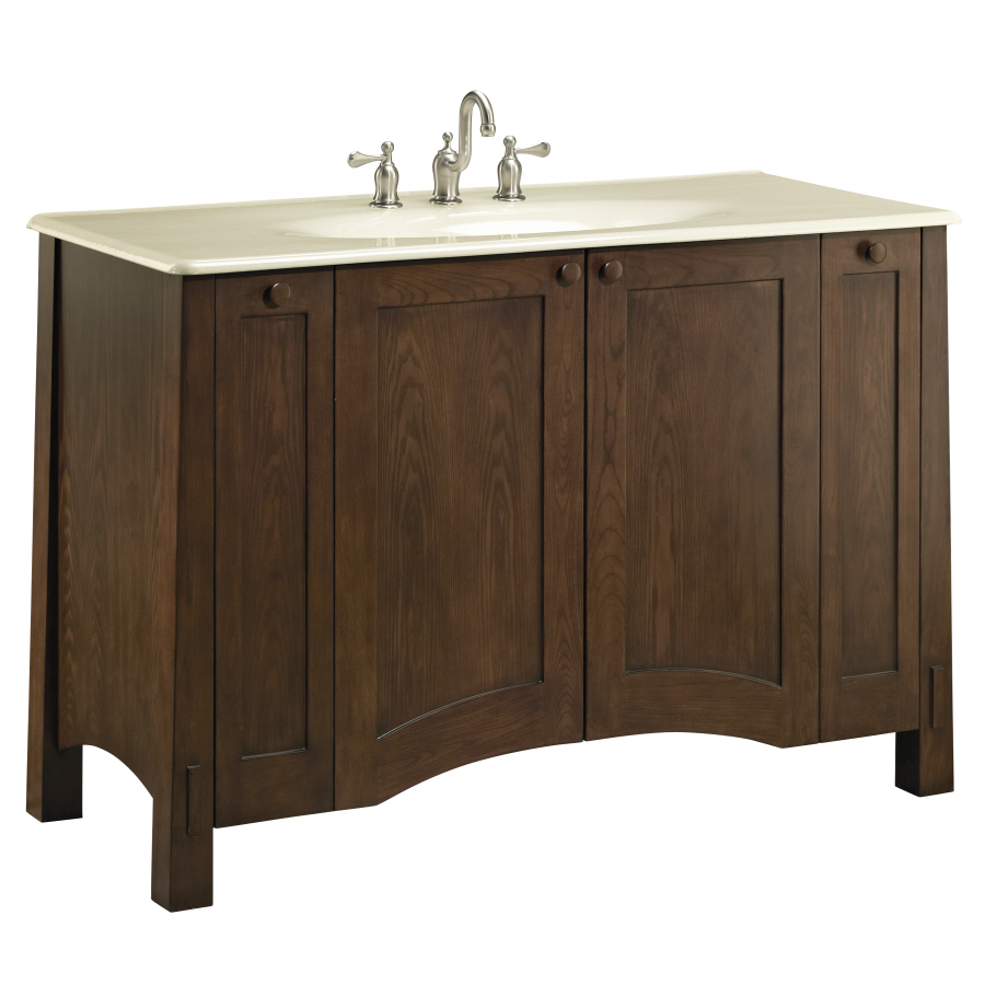 Shop kohler westmore westwood traditional bathroom vanity for Bathroom vanities lowes