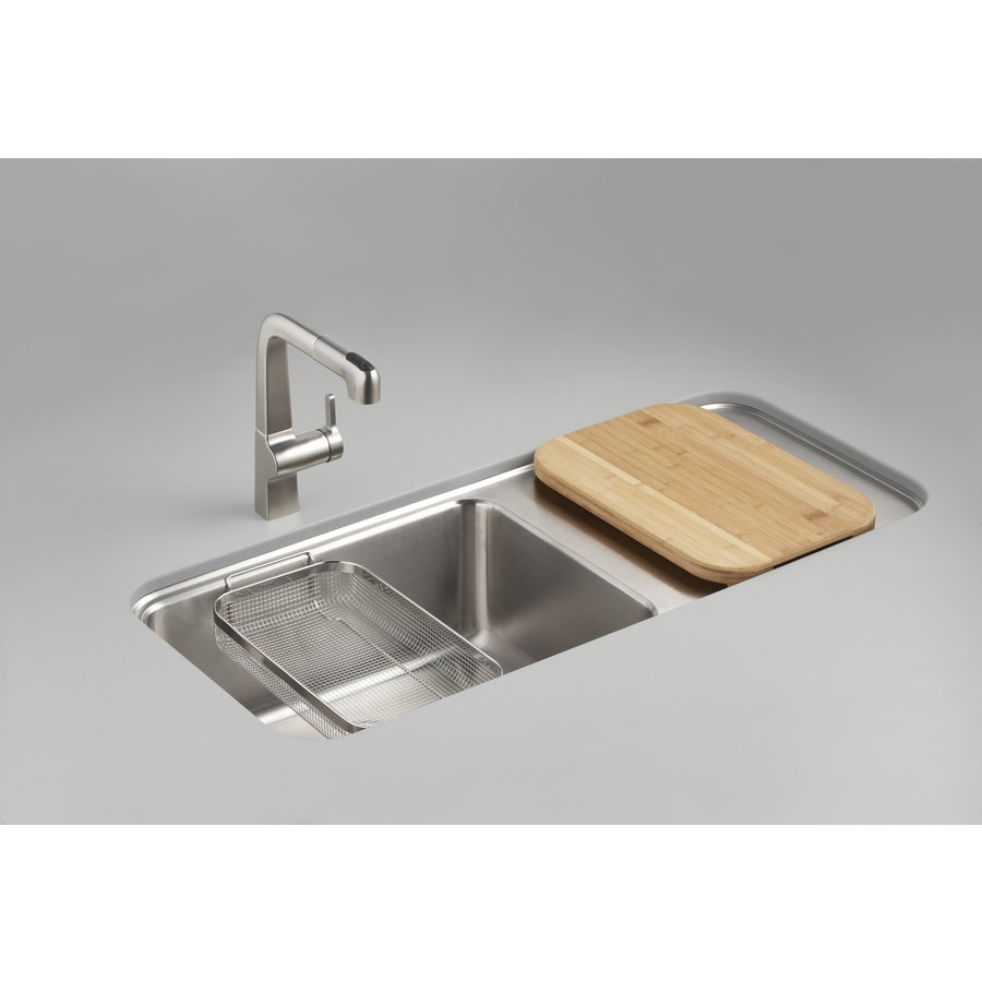 Kohler Stainless Sink : Shop KOHLER Prologue 18-Gauge Single-Basin Undermount Stainless Steel ...