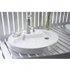 KOHLER Wading Pool White Drop-In Oval Bathroom Sink