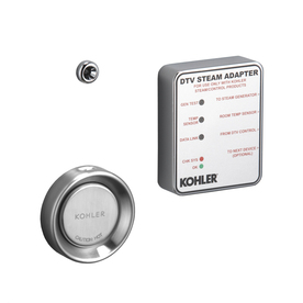 KOHLER Brushed Chrome Steam Adapter Kit