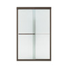 Sterling 47-5/8-in W x 70-3/8-in H Dark Bronze Frameless Sliding Shower Door