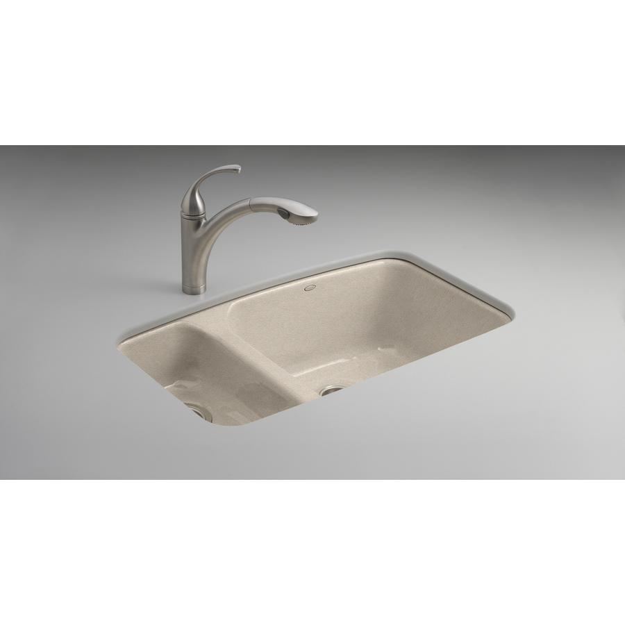 shop kohler lakefield basin undermount enameled