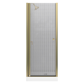 shop kohler dark bronze frameless pivot shower door at. Black Bedroom Furniture Sets. Home Design Ideas