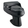 KOHLER San Raphael Black Black 1.0 GPF High Efficiency WaterSense Elongated 1-Piece Toilet