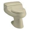 KOHLER San Raphael Sandbar 1.0 GPF High Efficiency WaterSense Elongated 1-Piece Toilet