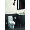 KOHLER Saile White 1.6-GPF (6.06-LPF) 12-in Rough-in WaterSense Elongated Dual-Flush Standard Height Toilet