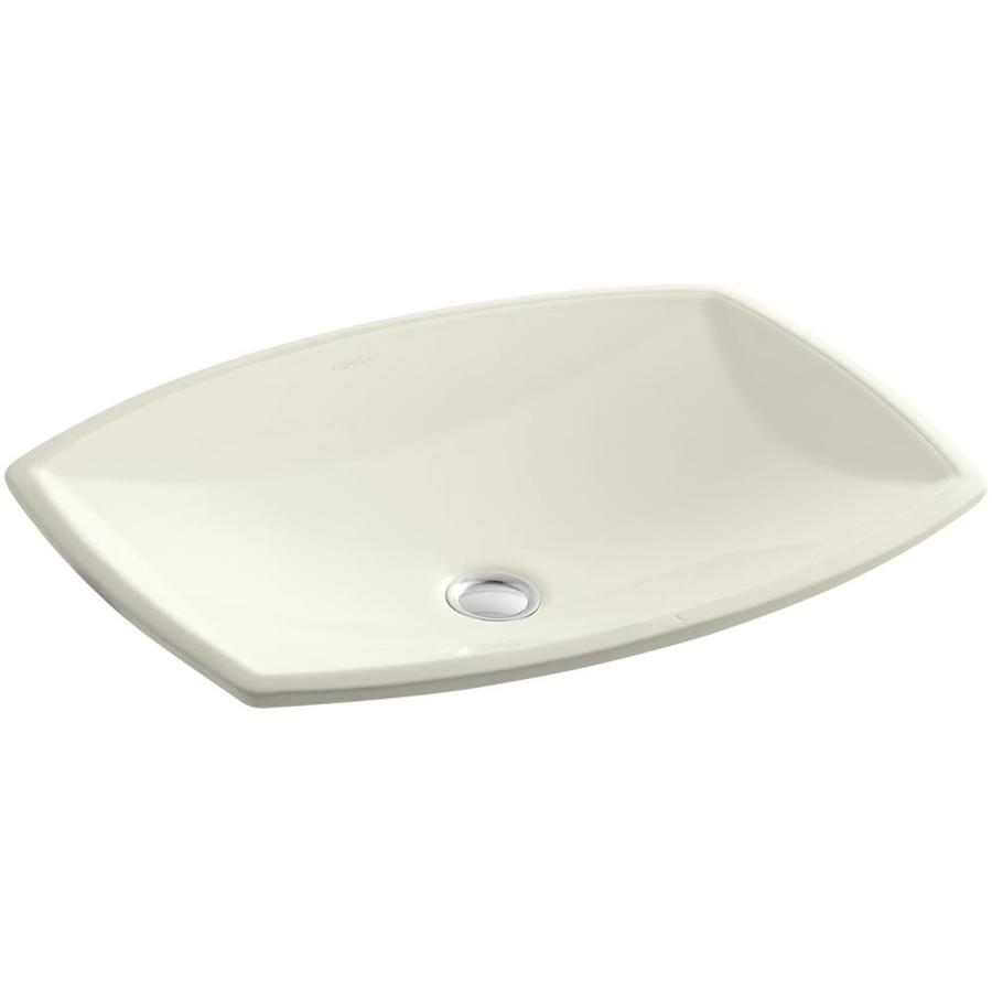Shop KOHLER Kelston Biscuit Undermount Rectangular Bathroom Sink with ...