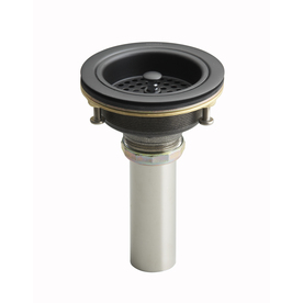 KOHLER Oil-Rubbed Bronze Lift and Turn Decorative Sink Drain