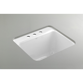 ... 21.5-in White Undermount Cast Iron Laundry Utility Sink at Lowes.com