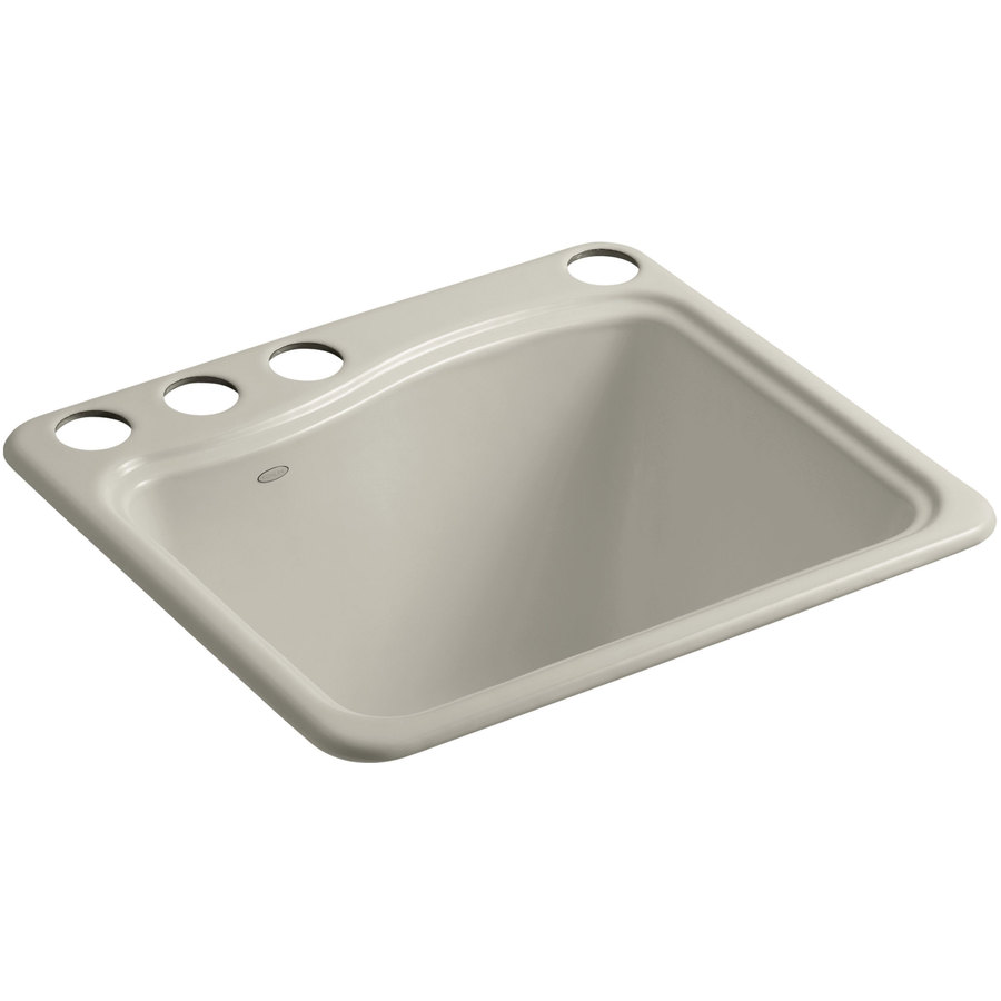 Shop KOHLER Cast Iron Undermount Laundry Sink at Lowes.com