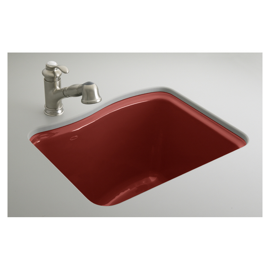 ... KOHLER Roussillon Red Undermount Cast Iron Laundry Sink at Lowes.com