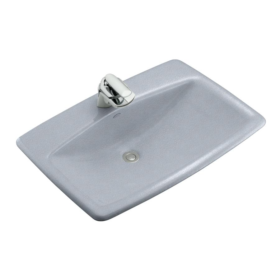 Shop Kohler Mans Lav Frost Cast Iron Drop In Rectangular Bathroom Sink With Overflow At