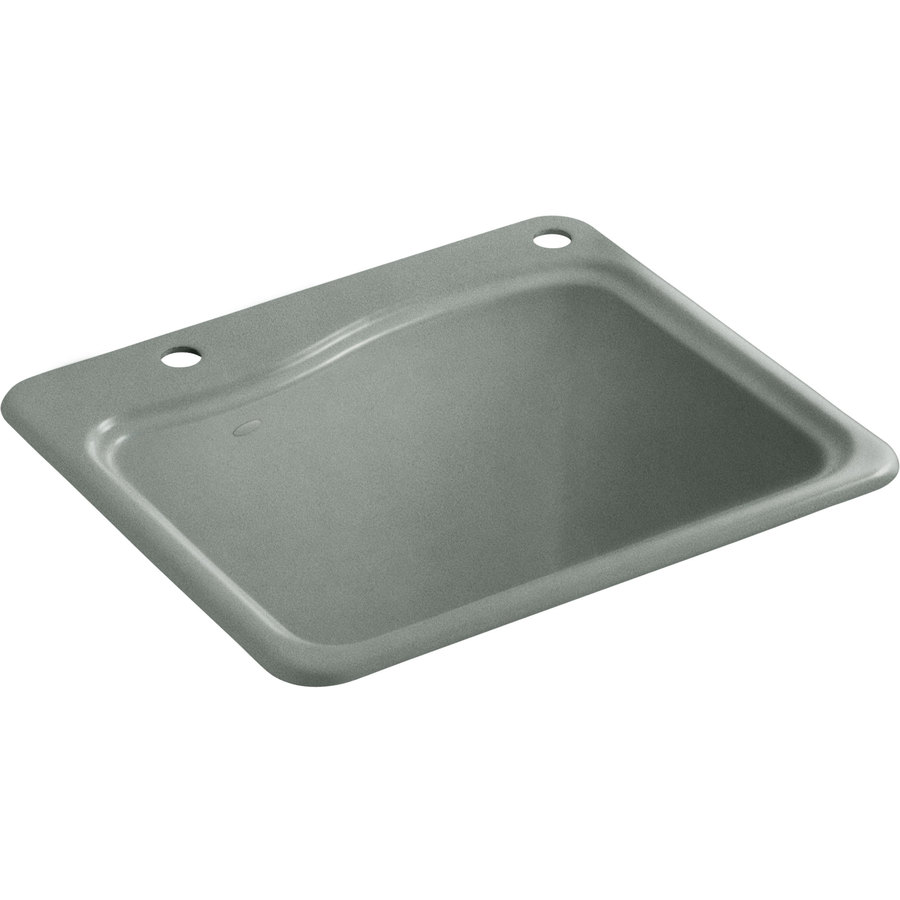 Cast Iron Sink : Shop KOHLER Basalt Cast Iron Laundry Sink at Lowes.com