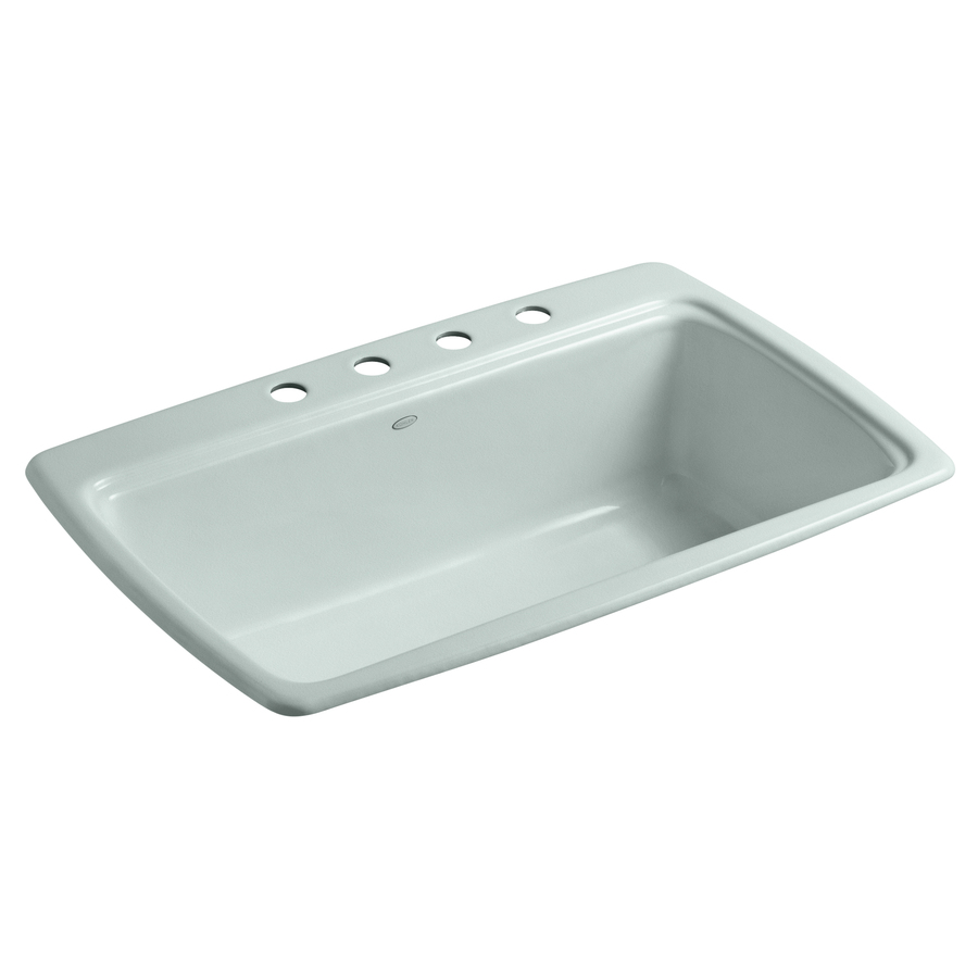 Shop KOHLER Cape Dory Frost Single-Basin Drop-In Kitchen Sink at Lowes ...