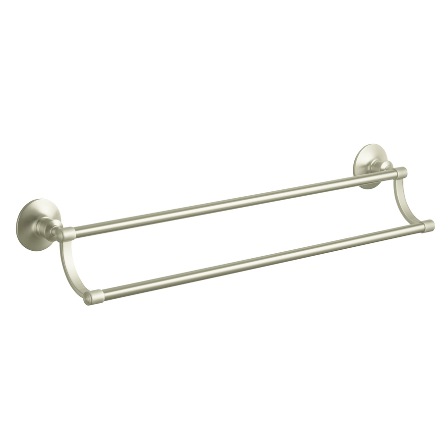archer vibrant brushed nickel double towel bar common 24 in double