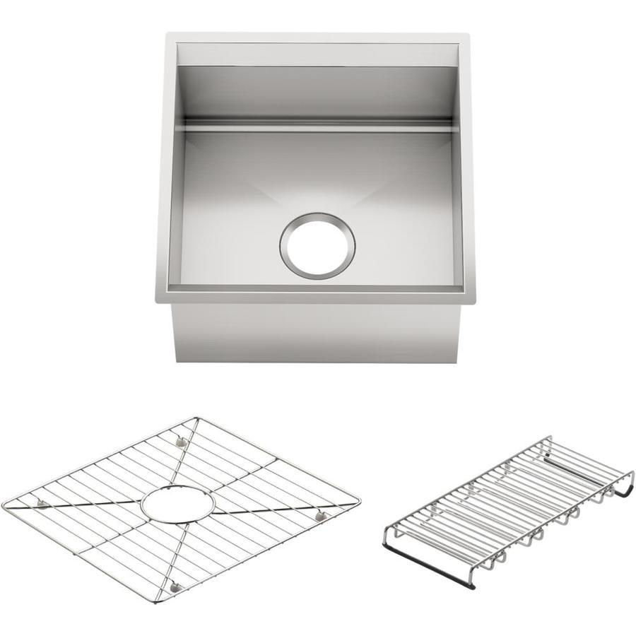 Kohler Bar Sink : Shop KOHLER 8 Degree Stainless Steel Single-Basin Undermount Bar Sink ...