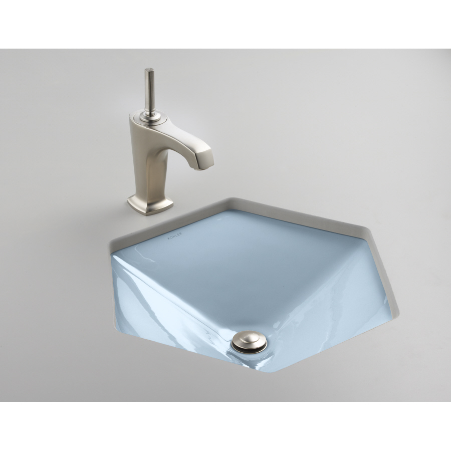 KOHLER Votive Skylight Cast Iron Undermount Hexagonal Bathroom Sink ...