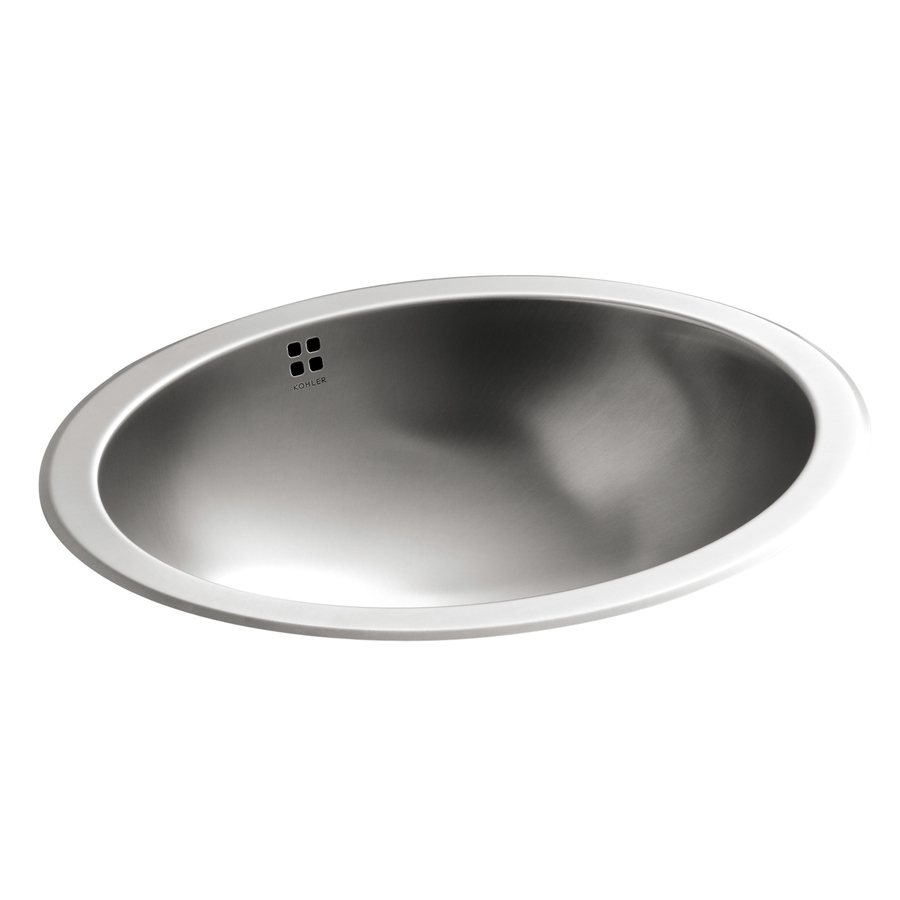 ... stainless steel stainless steel oval bathroom sink with overflow